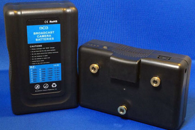 Dual Gold Mount Battery Kit w. Charger