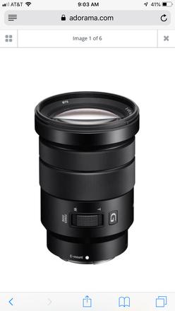 Sony E PZ Zoom 18-105mm f/4.0 G OSS