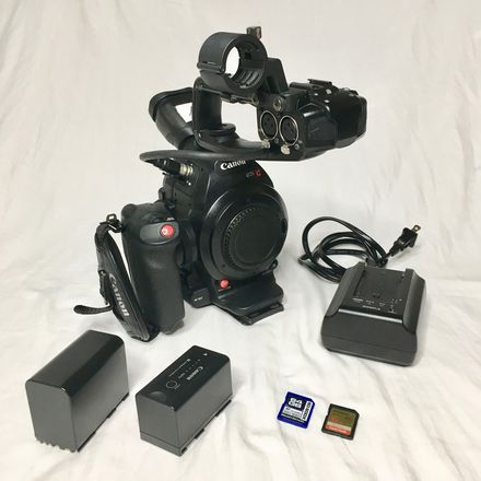 Canon EOS C100 mkii Kit w/  SD, Tripod, Batteries (Kit #2)