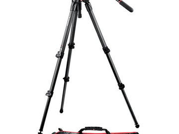 Rent: Manfrotto 504HD Head w/535 2-Stage Carbon Fiber Tripod Syste