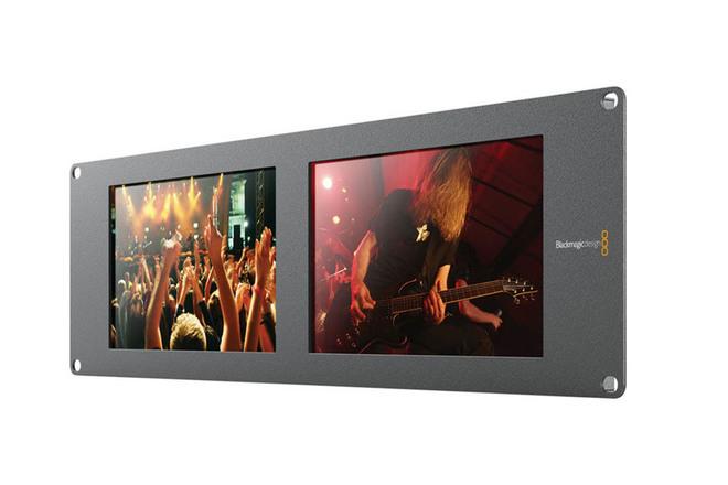 "Blackmagic Design SmartView Duo Rackmountable Dual 8"" LCD Mo"