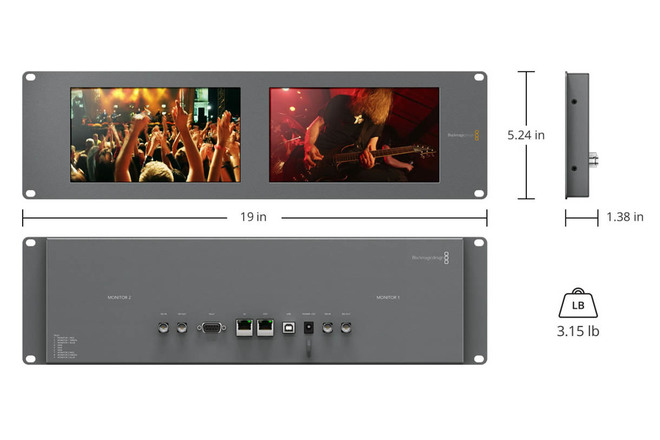 Rent A Blackmagic Design Smartview Duo Rackmountable Dual 8 Lcd Mo Best Prices Sharegrid Phoenix Az