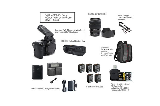 Fuji GFX 50s w/ Fujinon 32-64mm F4 Lens Package GFX 50s