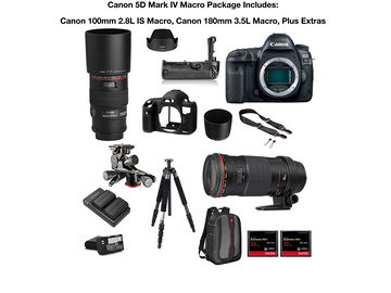 Rent: Canon EOS 5D Mark IV  Macro Package  w/ 100mm 2.8L IS, 180mm