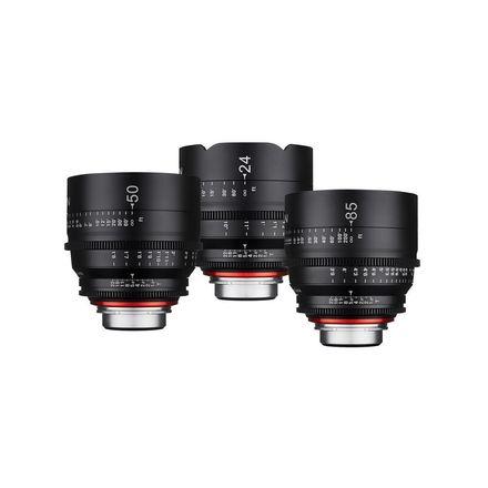 Rokinon XEEN 24mm/50mm/85mm T1.5 EF Mount Cine Lens Kit