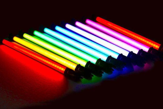 5x Pavolite 2' RGB Tube Light - Quasar RGB -Battery built in