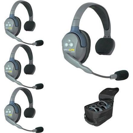 Eartec UL4S UltraLITE 4-Person Headset System with Batteries