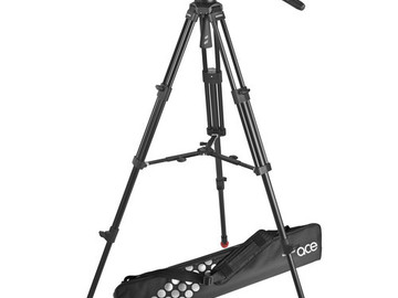 Rent: Sachtler Ace M Fluid Head with 2-Stage Aluminum Tripod & Mid