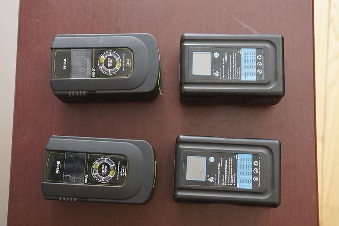 4 Gold Mount Batteries (2 Core SWX + 2 Intellytech)