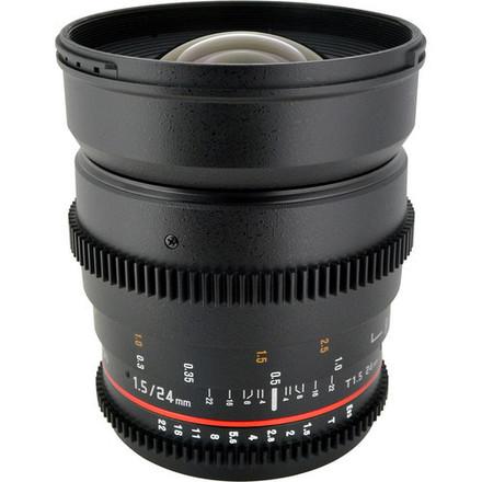 Rokinon Cinema Lenses 24mm, 35mm, 85mm.