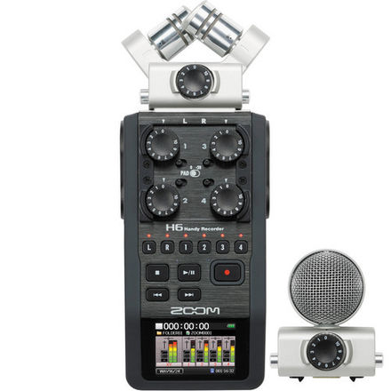 Zoom H6 with XYH-6 XY Stereo Mic and SSH-6 Shotgun Mic