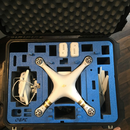 DJI Phantom 3 Pro with Extra Battery and Hard Case