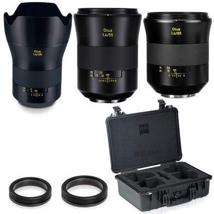 Zeiss Otus ZE Primes (28mm, 55mm, 85mm)w/ Focus Gears