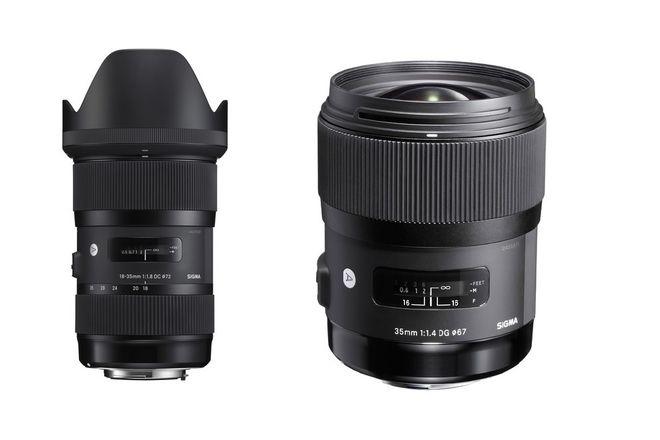 Sigma Lenses (ART 18-35 f1.8, 35mm 1.4)