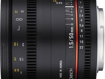 Rent: Rokinon 50mm T1.5 Cine Lens EF mount