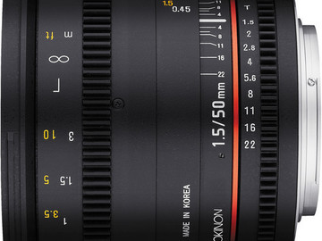 Rent: Rokinon 50mm T1.5 Cine Lens EF mount