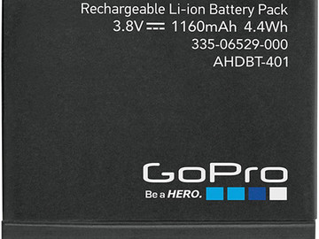 Rent: Extra Batteries for GoPro Hero 4 Silver or Black