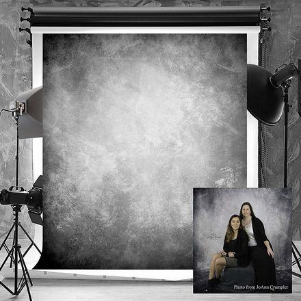 6.5ft(W) x10ft(H) Texture Photography Backdrop / Dark Grey