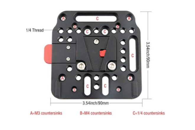 Compatible V Lock Assembly QR Plate