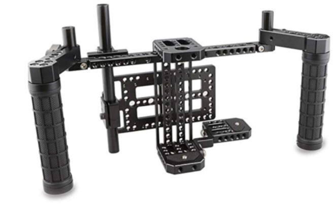 """Small HD 702 OLED 7"""" Monitor & Director's Monitor Cage with"""
