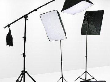 Rent: Fancierstudio 3x Softbox 2400 Watt Lighting Kit