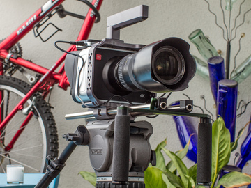 Rent: BlackMagic Production Camera 4K w/ Cartoni Tripod