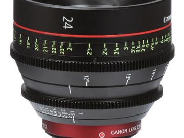 Rent: Canon CN-E 24mm T1.5 L F Cine Lens (EF-Mount | Prime)