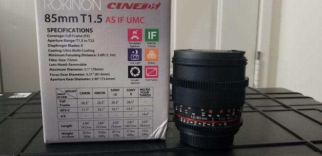 Rokinon Cine DS 85mm T1.5