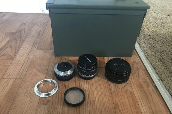 EF-mount Zuiko 28mm, 50mm ANAMORPHIC