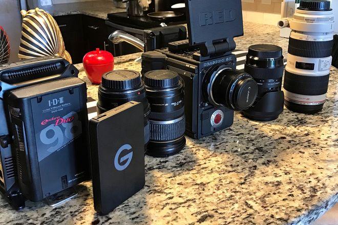 RED dragon X with Operator 4 Lenses,2 x 480gb Card,Tripod