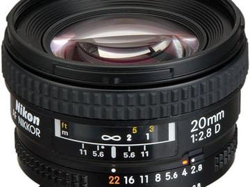 Nikon 20mm f/2.8D AF Nikkor Lens