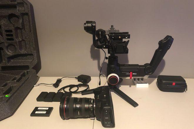 Blackmagic Design Pocket Cinema Camera 4K w/ gimbal and more