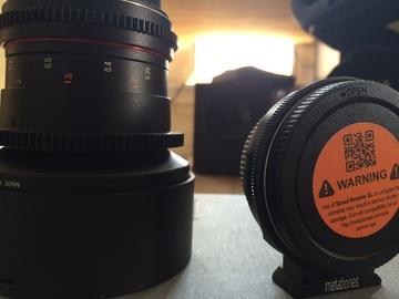 Rent: 14mm Rokinon Cine Lens + Speedbooster XL