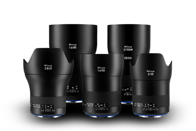 Pick 3 -- Zeiss Milvus ZE 5-Lens Super Speed Set (Canon EF)