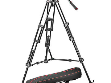 Manfrotto MVH502A and 546BK-1 Fluid Video Head Tripod