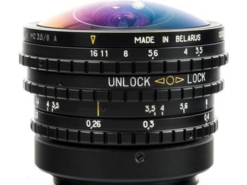 Rent: Belomo 8mm Fisheye Lens (M42, EF or PL Mount) F/3.5