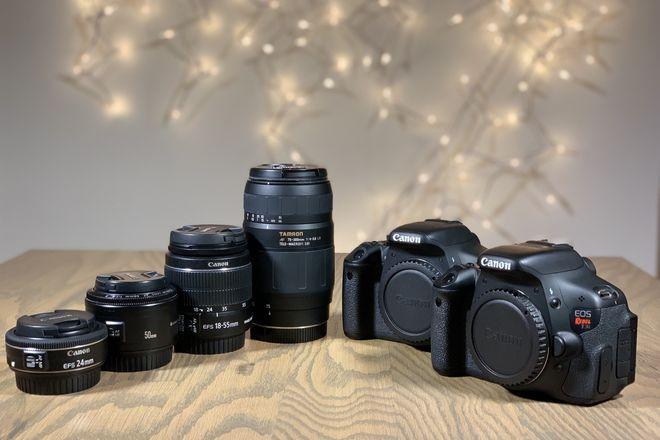 Canon Rebel T3i Kit *2 Cameras + 6 Lenses + Accessories*