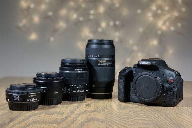 Canon Rebel T3i + 4 Lenses