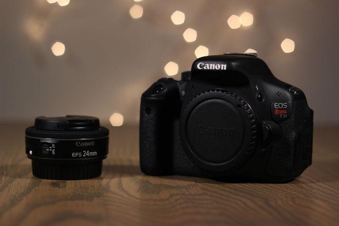 Canon Rebel T3i + 24mm Pancake Lens