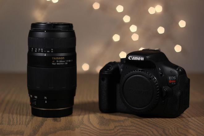 Canon Rebel T3i + 75-300mm Zoom Lens