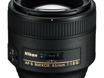 Rent: Nikon 85mm f/1.8G AF-S NIKKOR Lens