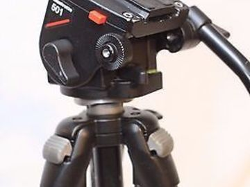 Rent: Manfrotto 501 Fluid Head and Tripod