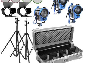 Arri Compact Fresnel Three-Light Kit, 650w and 2-300W