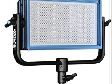 Dracast LED light kit (2x) 1000 LED PANEl  (1X 500 LED panel