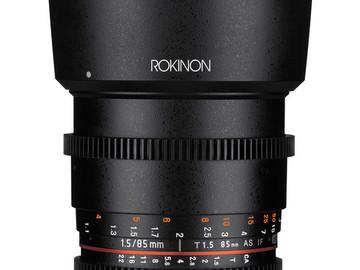 Rent: Rokinon 24mm & 85mm Cine DS Lenses