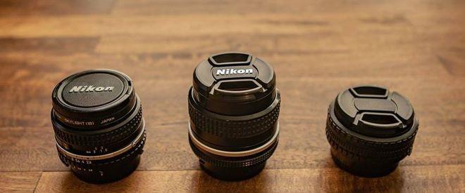 Nikon Vintage Lens Set (28mm, 35mm, 50mm)