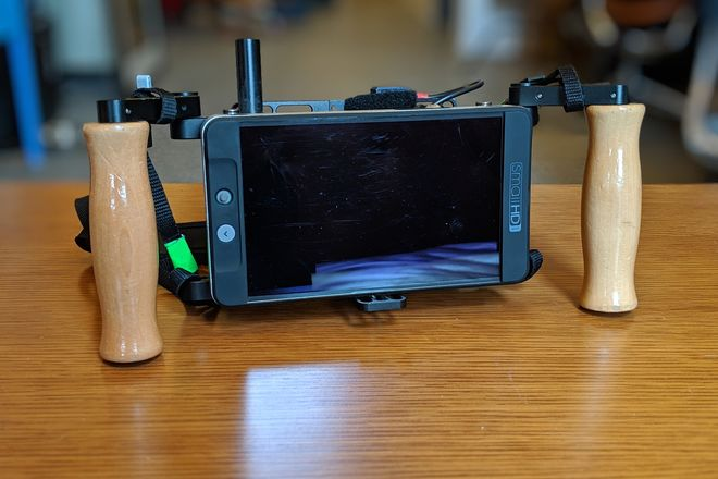 SmallHD 702 Bright with Wooden Camera Director's Cage