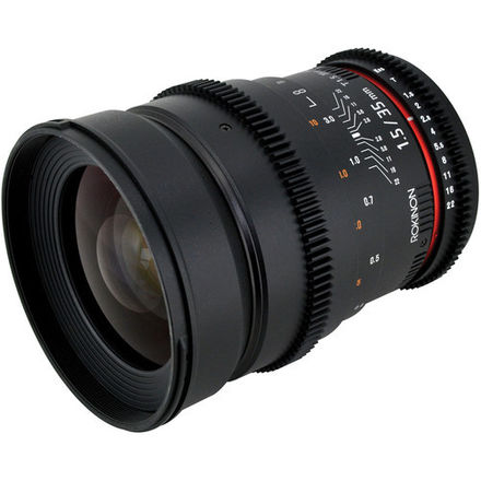 Rokinon Cine 35mm T1.5 with EF Canon Mount