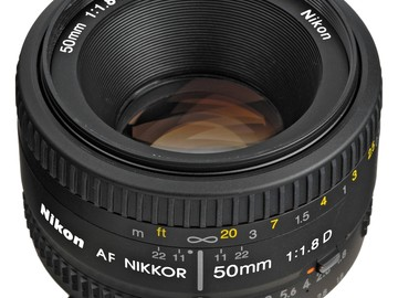 Rent: Nikon 50mm f/1.8D AF NIKKOR Lens