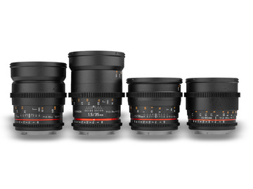Rent: Rokinon EF Cine Primes 24, 35, 50, 85mm full set